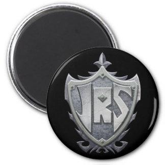 JRS: Magnet, Round, black background 2 Inch Round Magnet