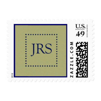 JRS STAMP olive and navy