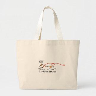 JRT 0-60 in 30 sec Large Tote Bag