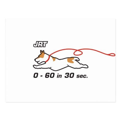 JRT 0-60 in 30 sec Postcard