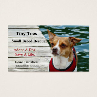 JRT Small Breed Dog Rescue Business Card