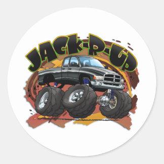 JRU_03RAM_Black Round Sticker