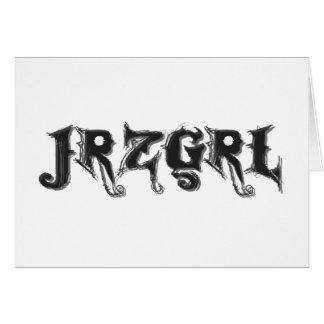 Jrzgrl Greeting Card