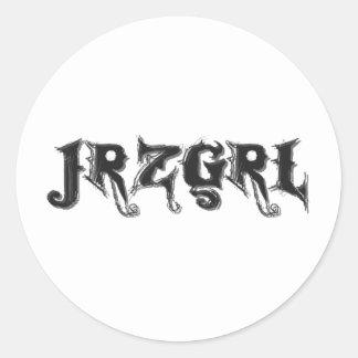 Jrzgrl Classic Round Sticker