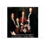 JS Bach Graphic & Funny Coffee Quote Gifts & Cards Postcard