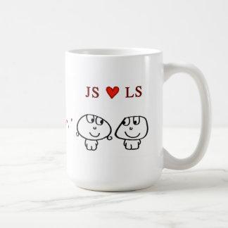 """""""JS heart LS"""" Coffee Mug"""