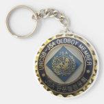 JSA Old Boys Basic Round Button Keychain