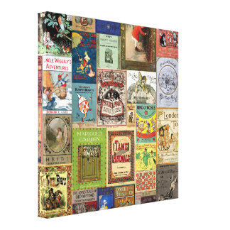 JSBC BOOK COVERS BOOKCOVERS COLLECTION COLORFUL AS CANVAS PRINT