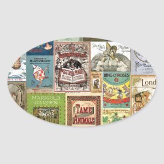 JSBC BOOK COVERS BOOKCOVERS COLLECTION COLORFUL AS OVAL STICKER