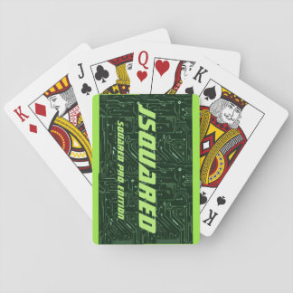 JSQUARED SQUARED PRO EDITION GREEN PLAYING CARDS
