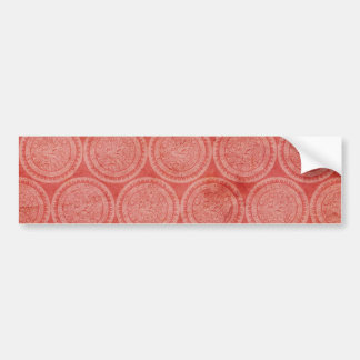 JSRC REDS DECORATIVE CIRCLES PATTERN BACKGROUNDS W BUMPER STICKER