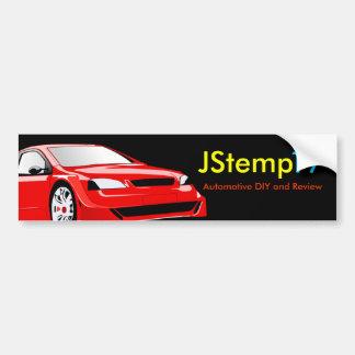 JStemp17 Bumper Sticker Car Bumper Sticker