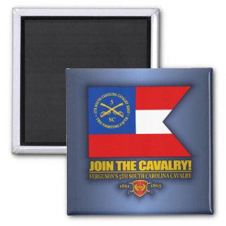 JTC (5th South Carolina Cavalry) 2 Inch Square Magnet
