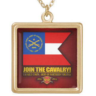 JTC (Cavalry Corps, Army of Northern Virginia) Square Pendant Necklace