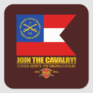 JTC (Turner Ashby's 7th Virginia Cavalry) Square Sticker