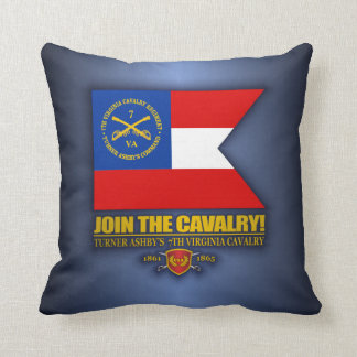 JTC (Turner Ashby's 7th Virginia Cavalry) Throw Pillow