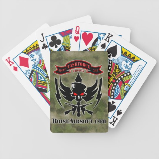 JTF208 Logo with ATACS FG BAckground Bicycle Playing Cards