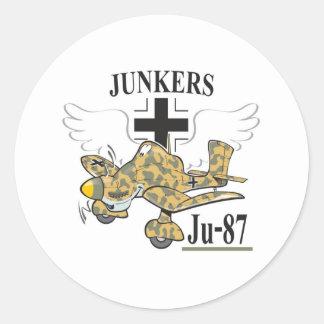 ju-87 stuka classic round sticker