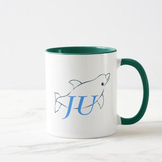 JU dolphin mug for left handed