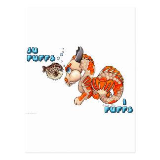 Ju Puffs, I Puffs cute Koi baby dragon Postcard