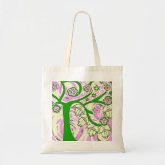 Juaica Hamsa Tree Of Life Pink Tote Bag