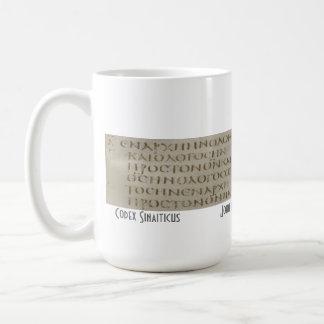 Juan 1 en griego tazas de café
