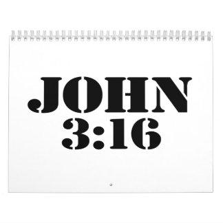 Juan 316 calendario de pared