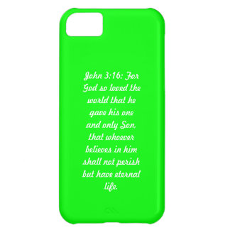 Juan 3; 16 caja verde del iPhone 5 de la casamata