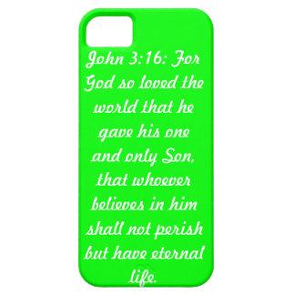 Juan 3; 16 caja verde del iPhone 5 de la casamata  iPhone 5 Funda