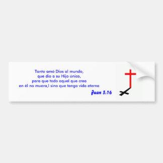 juan 3:16 Sticker Car Bumper Sticker