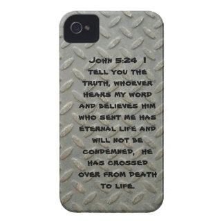 Juan 5; 24 casamatas intrépidas plateadas diamante Case-Mate iPhone 4 fundas