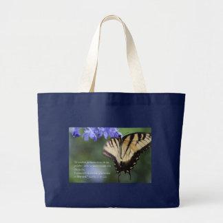 Juan 8 con mariposa Tiger Swallowtail Large Tote Bag