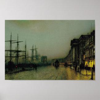 Juan Atkinson Grimshaw- Glasgow cauta Posters