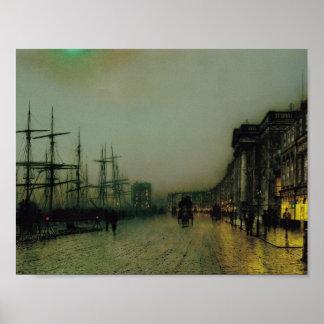 Juan Atkinson Grimshaw- Glasgow cauta Póster