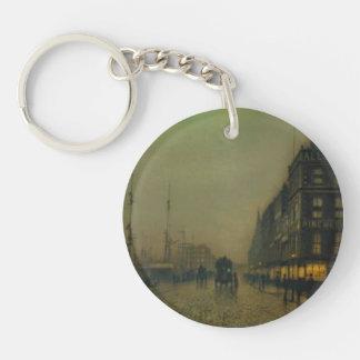 Juan Atkinson Grimshaw-Liverpool Quay por claro de Llavero