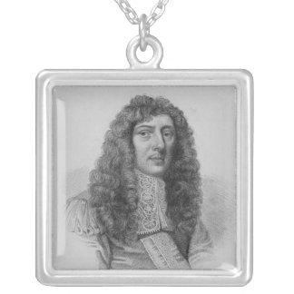 Juan Aubrey, grabado por Charles Eden Wagstaff Colgante Cuadrado