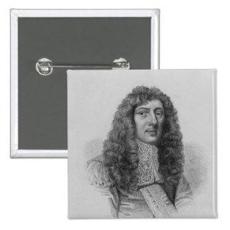 Juan Aubrey, grabado por Charles Eden Wagstaff Pin Cuadrado
