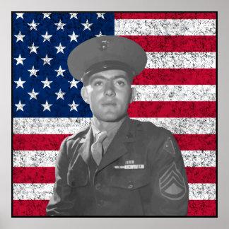 Juan Basilone y la bandera americana -- Frontera Impresiones