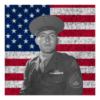 Juan Basilone y la bandera americana Impresiones