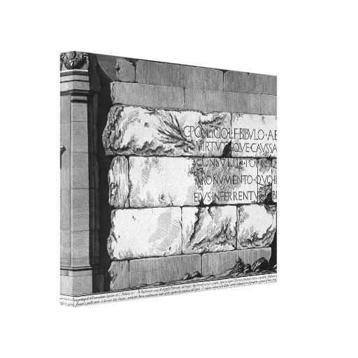 Juan Battista Piranesi- las antigüedades romanas Lona Estirada Galerías