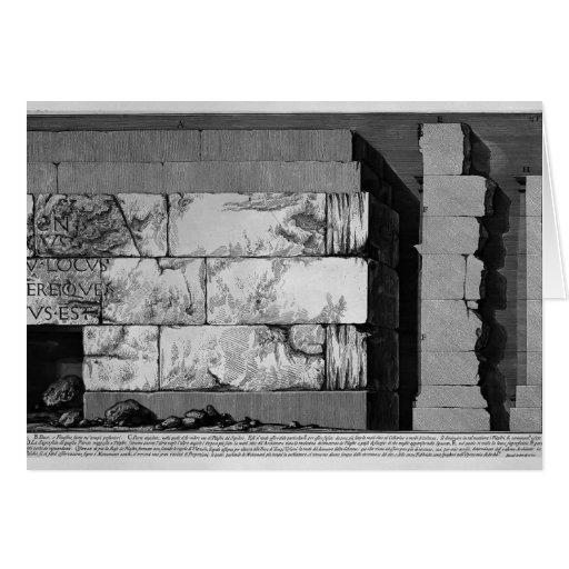 Juan Battista Piranesi- las antigüedades romanas Tarjeta
