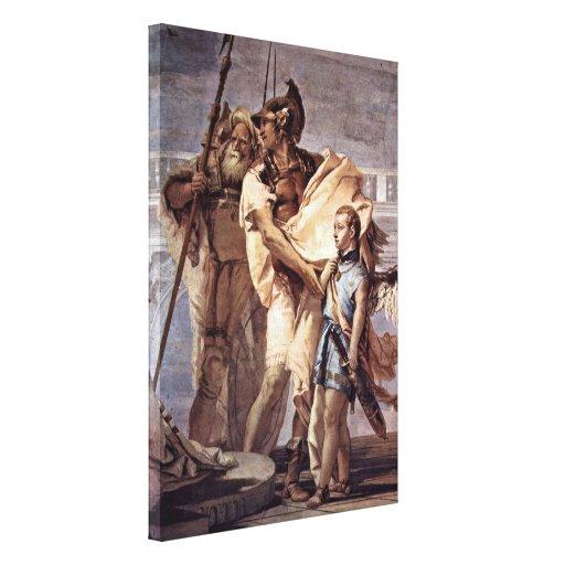 Juan Battista Tiepolo - Ascanius como Cupid Impresión En Lona Estirada