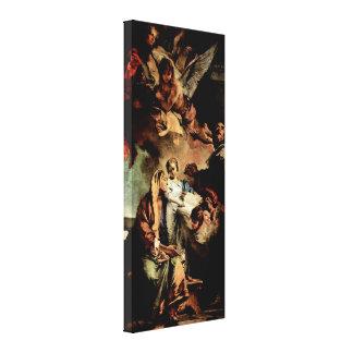 Juan Battista Tiepolo - educación de Maria Impresiones En Lienzo Estiradas
