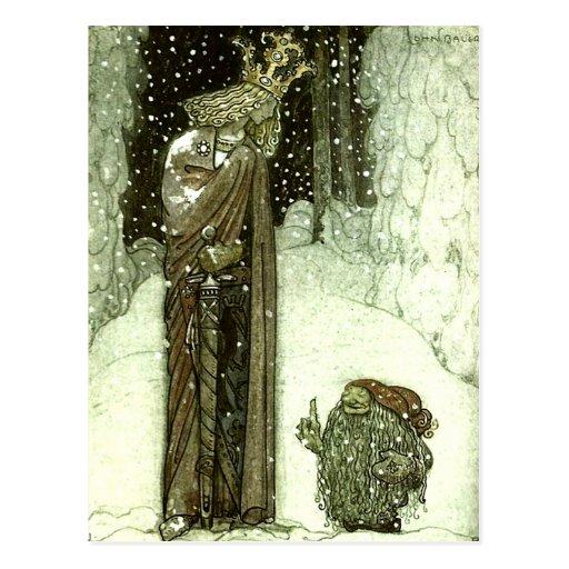Juan Bauer la princesa y el duende Postales