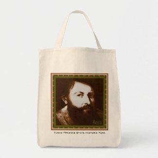 Juan Bautista de Anza organic tote bag