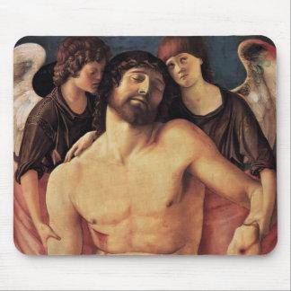 Juan Bellini- Cristo muerto apoyado por ángeles Tapetes De Ratón