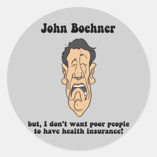 Juan Boehner Pegatina Redonda