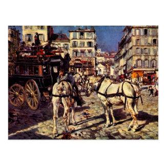 Juan Boldini - autobuses en el lugar de Pigalle en Tarjeta Postal