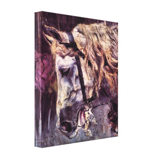 Juan Boldini - cabeza de un caballo Impresión En Lona Estirada