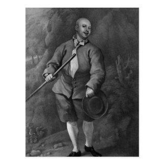 Juan Broughton, grabado por F. Ross, 1842 Tarjeta Postal